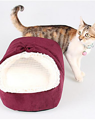 Cat Dog Bed Pet Mats & Pads Solid Soft Red Green