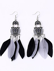 cheap -Europe And The United States To Restore Ancient Ways Fan Earrings Fashion National Wind Feather Earrings Long Earrings