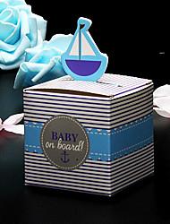 50pcs Sailboat candy box baby shower gift box paper box sailboat favor box party supplies