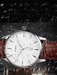 cheap -Men's Fashion Watch Genuine Leather Band Charm Black / Brown