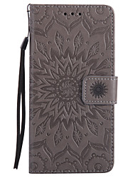 For Samsung Galaxy  7 Prime J5 Prime PU Leather Material Sun Flower Pattern Embossed Phone Case J7(2016) J7 J5(2016)J310/J3/G530/G360