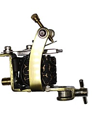 cheap -Coil Tattoo Machine Handmade Liner and Shader Carbon Steel Professional Tattoo Machine