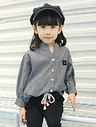 Girl's Cotton Fashion Spring/Winter/Autumn Casual/Daily Cartoon Rabbit Print Long Sleeve T-shirt Children Under Shirt Blouse
