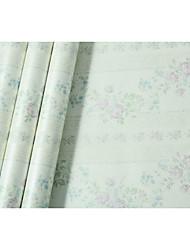 Floreale Rigato Sfondo Per la casa Paese Rivestimento pareti , Tessuto non tessuto di carta Materiale adesivo richiesta sfondo , Carta da