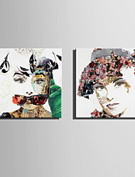 cheap -E-HOME Stretched Canvas Art Poster Collage Of Woman  Decoration Painting One Pcs