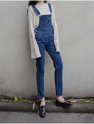 underskrive Sydkorea Institut for vind små friske retro løse denim overalls siamese bukser