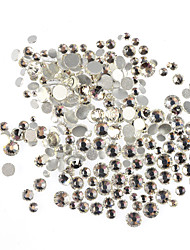 cheap -400-500pcs/bag SS3-SS16 Mixed Size White Nail Art Glitter Shiny Rhinestone Nail Art Sparking Decoration For Nail Beauty