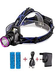 U'King Lampes Frontales LED 2000 Lumens 3 Mode Cree XM-L T6 Oui Faisceau Ajustable Transport Facile Haute Puissance Multifonction Taille