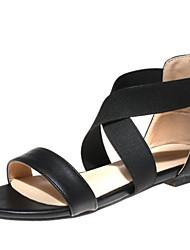 baratos -Mulheres Sapatos Materiais Customizados / Courino Primavera / Verão Conforto / Inovador / Solados com Luzes Sandálias Sem Salto Dedo