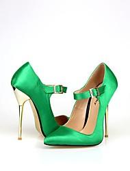 Da donna-Tacchi-Matrimonio Serata e festa-Club Shoes-A stiletto-Seta-Rosso Verde Blu Azzurro chiaro Champagne