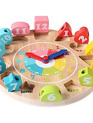 Недорогие -Часы Пазлы и логические игры Деревянные часы Математические игрушки Обучающая игрушка Игрушки Часы Образование Детские 1 Куски