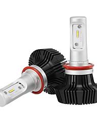 h11 led fari led lampadine fari con 2 pezzi di kit di conversione 25w / 2pz 5000lm bridgelux chip pannocchia nebbia leggeri