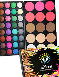 preiswerte -40 Color Eyeshadow + 15 Color Face Blush&Concealer Contour Concealer/Contour Rouge Highlighter & Selbstbräuner+LidschattenTrocken Nass