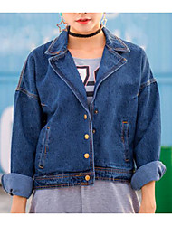 Sign Korean version of the new winter suit collar short paragraph BF wind denim jacket female tide