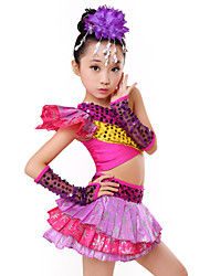 Shall We Jazz Outfits Kid Performance Tiers Paillettes 4 Pieces