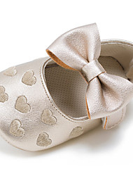 cheap -Children's Baby Shoes Leatherette Spring Fall First Walkers Flats Bowknot Hook & Loop for Wedding Casual Outdoor Party & Evening Dress