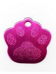 A placa de identificação do metal dos Tag de cão do cão