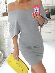place AliExpress 2017 femmes européennes et américaines&# 39; col ressort paquet mince robe de la hanche