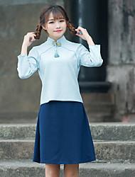 signe été vent nouveau ventilateur art républicain xuesheng amélioré manches costume han vêtements chinois blouse cheongsam