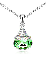 Women's Pendant Necklaces Crystal Jewelry Chrome Unique Design Personalized Jewelry For Anniversary Congratulations Gift