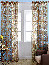 Country Sheer Curtains Shades One Panel Living Room