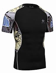 billiga Sport och friluftsliv-Realtoo Herr Rund hals T-shirt för jogging sporter Överdelar Kortärmad Sportkläder Snabb tork, Kompression Elastisk