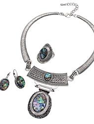 bijoux collier 1 1 paire de boucles d'oreilles anneaux alliage jour de fête de mariage occasion spéciale Halloween 1set cadeaux de mariage