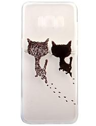 economico -Custodia Per Samsung Galaxy S8 Plus S8 Transparente Fantasia/disegno Custodia posteriore Gatto Morbido TPU per S8 S8 Plus