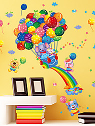 Wall Stickers Wall Decals Style Rainbow Balloon Elephant PVC Wall Stickers