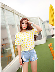Sign summer essential wild light color low-waist jeans shorts burr hole was thin frayed shorts