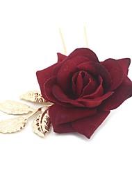 Legierung Stoff Kopfschmuck-Hochzeit Besondere Anlässe Freizeit Blumen Haarklammer Haar-Werkzeug 1 Stück