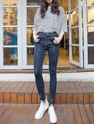 firmare graffia i jeans dei pantaloni femminili tratto stretti sottili pantaloni matita onda coreana