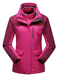 Women's Hiking 3-in-1 Jackets Outdoor Waterproof Thermal / Warm Windproof Fleece Lining Dust Proof Breathable 3-in-1 Jacket Winter Jacket