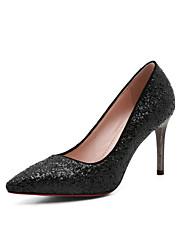 preiswerte -Damen Schuhe Paillette Frühling Sommer Pumps High Heels Stöckelabsatz Spitze Zehe für Büro & Karriere Party & Festivität Weiß Schwarz Blau