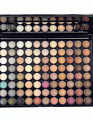 Недорогие -88 цветов Тени / Пудры / Кисти для макияжа Глаза Зеркальная поверхность / Не содержит алкоголя / Не содержит аммиака Водонепроницаемость Мерцающий блеск Цветной глянец / Матовое стекло / Отблеск