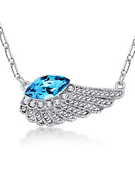 Women's Pendant Necklaces Crystal Chrome Euramerican Personalized Simple Style Light Green Light Blue Red Rose Red Purple Jewelry For