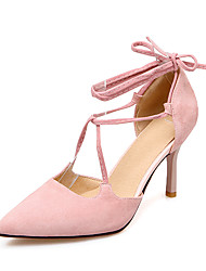Women's Sandals Spring Summer Club Shoes D'Orsay & Two-Piece Leatherette Wedding Party & Evening Dress Stiletto Heel Hollow-out