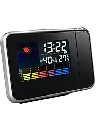 cheap -Digital Weather Temperature Humidity Wall Projection Snooze Alarm Clock LED Display