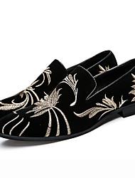 preiswerte -Herren Schuhe Wildleder Herbst Winter formale Schuhe Tauchschuhe Loafers & Slip-Ons Blume Für Hochzeit Party & Festivität Schwarz