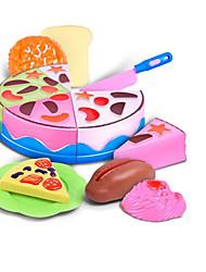 baratos -Comida de Brinquedo Brinquedos de Faz de Conta Brinquedos Comida Cortadores de Bolos e Bolachas Sobremesa Bolo realista Segura Para