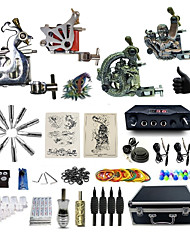 Professional Tattoo Kit 2 steel machine liner & shader 2 alloy machine liner & shader 3 Tattoo Machine Inks Not Included