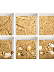 cheap -Quicksand Shells 3D Bathroom Non-Slip Stickers The Floor Tile Individuality Decorative Stickers