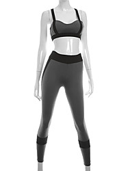 Women's Sport Bra with Running Pants Breathable Soft Sweat-wicking Comfortable Clothing Suits for Yoga Exercise & Fitness Running Terylene