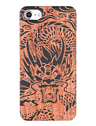 baratos -Capinha Para iPhone 7 Plus iPhone 7 Apple Estampada Com Relevo Capa traseira Animal Rígida De madeira para iPhone 7 Plus iPhone 7