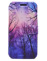 cheap -For Samsung Galaxy A5 A3 (2017) Case Cover Tree Pattern HD Painted Voltage TPU Process PU Skin Phone Case