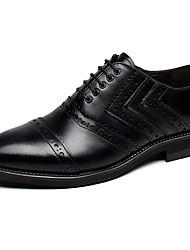 Недорогие -Для мужчин обувь Кожа Весна Осень Баллок обувь Туфли на шнуровке Для фитнеса Шнуровка Назначение Свадьба Для вечеринки / ужина Черный