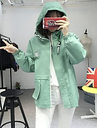 Sign spot Harajuku College Wind hooded casual candy-colored spring coat