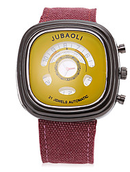 cheap -JUBAOLI Men's Sport Watch Quartz Large Dial Fabric Band Black