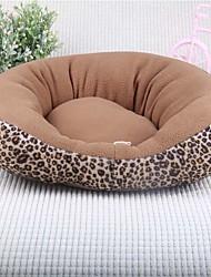 Недорогие -Мягкий Одежда для собак Кровати Леопард Черный / Коричневый Кошка / Собака