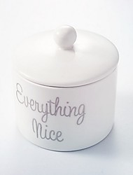 1Piece/Set Favor Holder - Ceramic Sugar Bowl 8.4 x 8.4 x 10.5cm/box Beter Gifts® Wedding Favor / Candy Jar / Candy Boxes